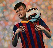 Neymar painting by PaulMeijering