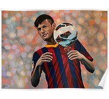 Neymar painting Poster