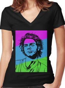 Color Mac Women's Fitted V-Neck T-Shirt