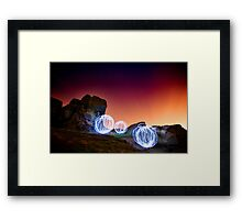 Light Spheres Framed Print