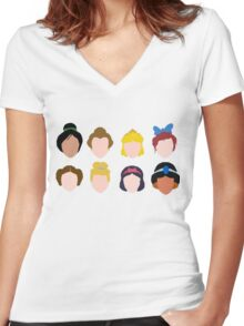 ALL of the Princesses Women's Fitted V-Neck T-Shirt