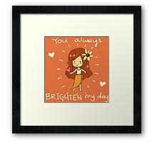 You always Brighten my day! - League Of Legends Framed Print