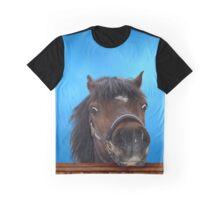 Pony, cheeky head study. Graphic T-Shirt