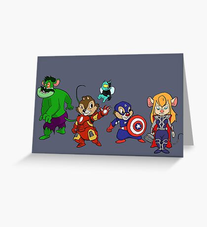 Rescuers Assemble!  Greeting Card