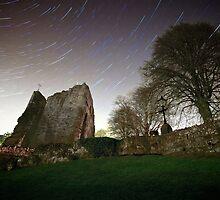 Star Trails - Knaresborough Castle by eatsleepdesign
