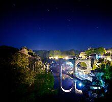 Star Trails over Knaresborough Viaduct by eatsleepdesign