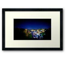 Star Trails over Knaresborough Viaduct Framed Print