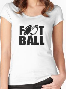 Football sports Women's Fitted Scoop T-Shirt