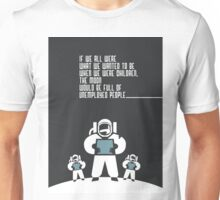 First step on the moon Unisex T-Shirt