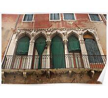 Venetian Windows 2 Poster