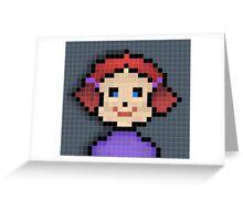 Pixel Girl Greeting Card