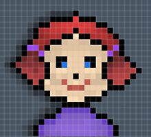 Pixel Girl Photographic Print