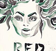 "Galina ""Red"" Reznikov (OITNB) (watercolour/aquarelle and ink) by mugs-munny"