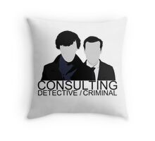 Consulting Detective/Criminal Throw Pillow