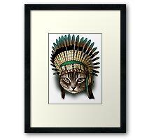 CHIEF CAT Framed Print