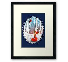 The Cardinal and The Fox Framed Print