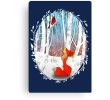 The Cardinal and The Fox Canvas Print