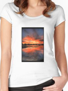 White Water Sunset Women's Fitted Scoop T-Shirt