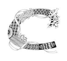 Zentangle®-Inspired Art - Tangled Alphabet - C Photographic Print