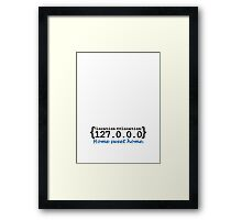 127.0.0.0 - Home sweet Home VRS2 Framed Print