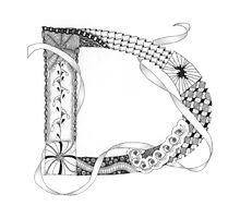 Zentangle®-Inspired Art - Tangled Alphabet - D Photographic Print