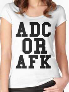 Adc Or Afk Women's Fitted Scoop T-Shirt