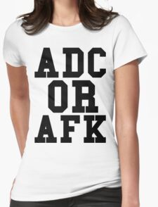 Adc Or Afk Womens Fitted T-Shirt