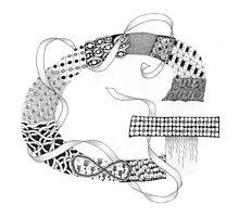 Zentangle®-Inspired Art - Tangled Alphabet - G Photographic Print