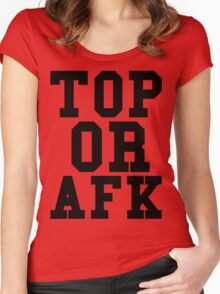 Top Or Afk Women's Fitted Scoop T-Shirt