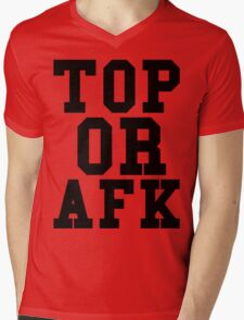 Top Or Afk Mens V-Neck T-Shirt
