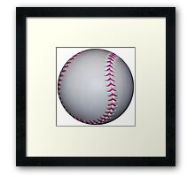 Pink Stitches Softball / Baseball Framed Print