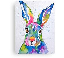 Colourful Hare Canvas Print