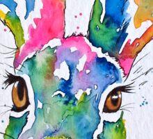 Colourful Hare Sticker