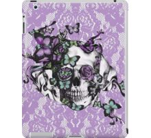 Candy coated, purple lace skull iPad Case/Skin