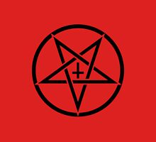 Pentagram with Upside Down Cross Unisex T-Shirt