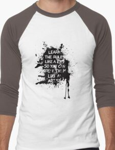 Learn the rules Men's Baseball ¾ T-Shirt