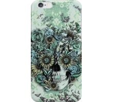 Constant, sunflower skull iPhone Case/Skin