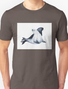 Sea lions. In love. Watercolor illustration. T-Shirt