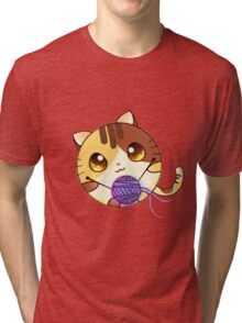 Cute Cartoon cat Tri-blend T-Shirt
