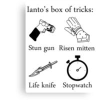 Ianto's box of tricks Canvas Print