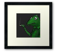 Kermit the Frog Smoking Framed Print