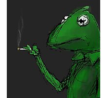 Kermit the Frog Smoking Photographic Print