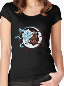 Rin Vang (Raava x Vaatu - Yin Yang) Women's Fitted Scoop T-Shirt