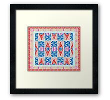 Fashion Country style patchwork gifts. Framed Print
