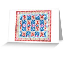 Fashion Country style patchwork gifts. Greeting Card