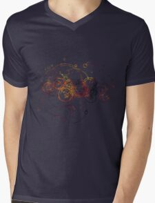 Time Lord Writing Mens V-Neck T-Shirt