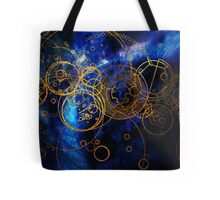 Time Lord Writing (blue) Tote Bag