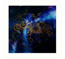 Time Lord Writing (blue) Art Print