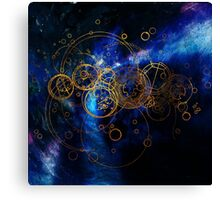 Time Lord Writing Canvas Print
