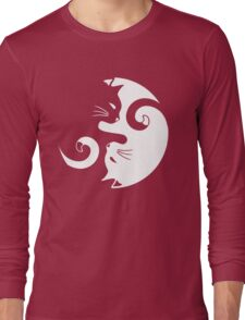 Yin Yang Cats Long Sleeve T-Shirt